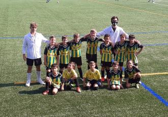 Primera victòria de la pretemporada per al Benjamí, en un entretingut partit a Viladecans contra el Sector Montserratina. Felicitats equip!
